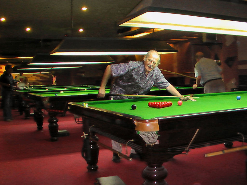 Bob always enjoyed snooker with his friends